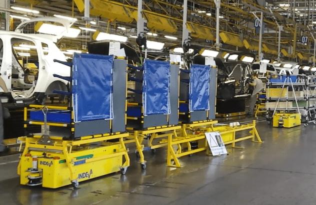 AGV Tunnel riešenia manipulácie s materiálom -Automaticky Riadené Vozidlá