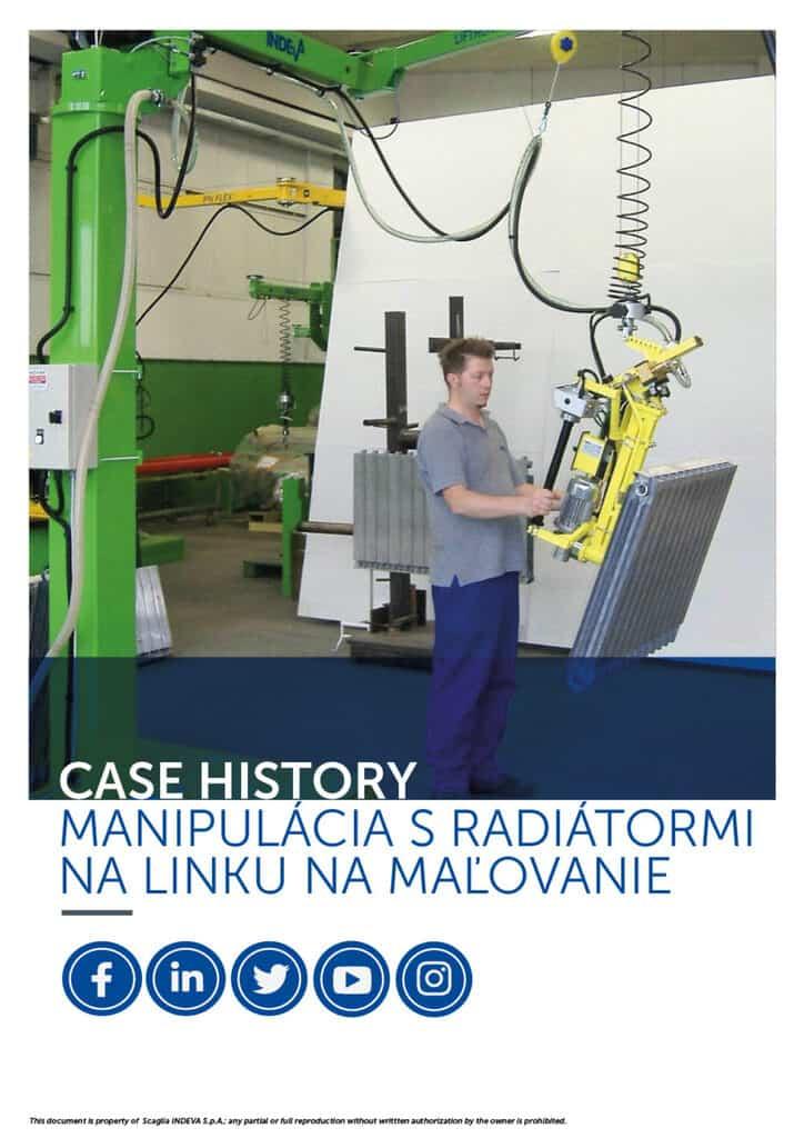 Prípadové štúdie INDEVA: pohybujúce sa radiátory na lakovacej linke v celkovej ergonómii a bezpečnosti, zvyšujúce produktivitu.