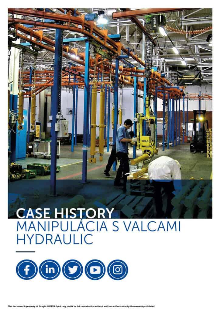 Prípadové štúdie spoločnosti Indeva: bezpečné a presné premiestňovanie hydraulických valcov, zvyšovanie produktivity v spoločnosti.