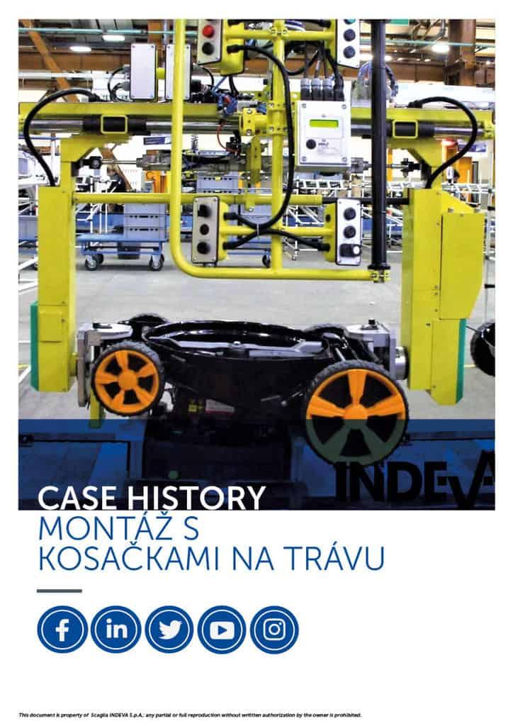 Prípadové štúdie v Indeve: bezpečné a presné zostavenie kosačiek na trávu, zvýšenie produktivity počas pracovného cyklu v spoločnosti.